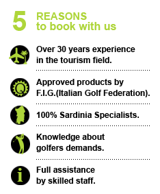 Book with Golf in Sardinia